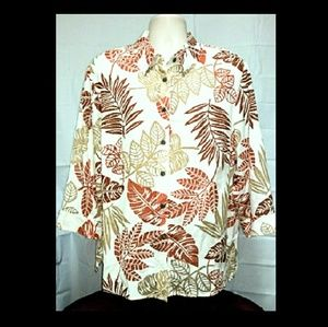 Plus-Size  Alfred Dunner Dressy Hawaiian Top